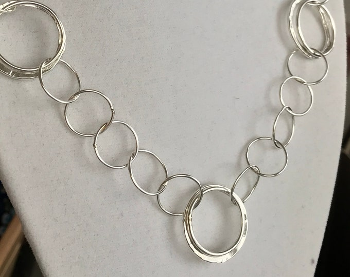 Sterling Silver Multi Circle Link Chain (CLS1)