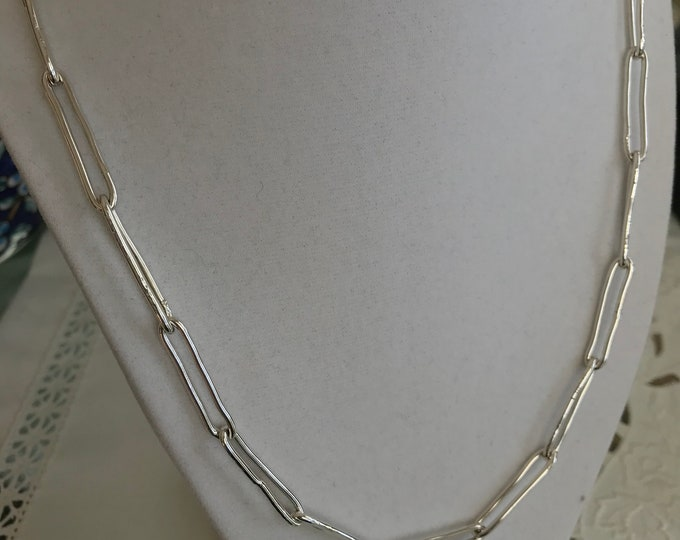 Large Funky Link Chain, Sterling Silver (FLS3)