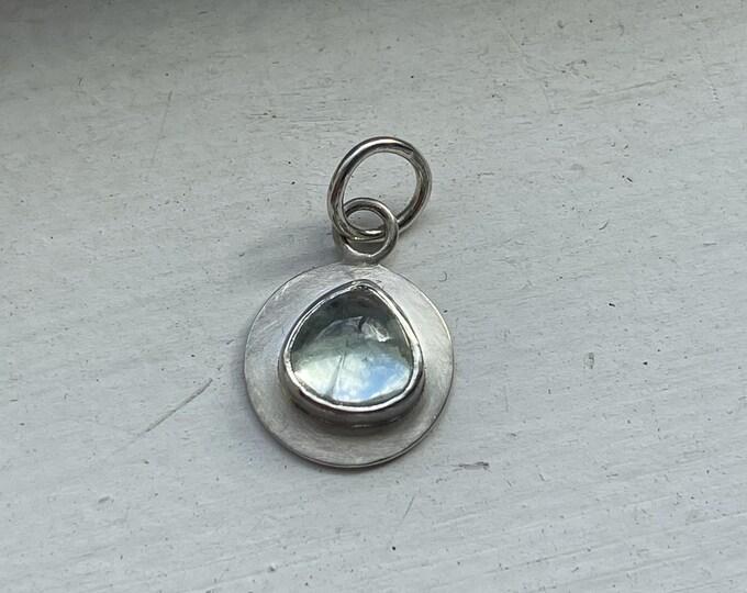 Aquamarine Talisman Pendant, Fine and Sterling Silver (TP7)