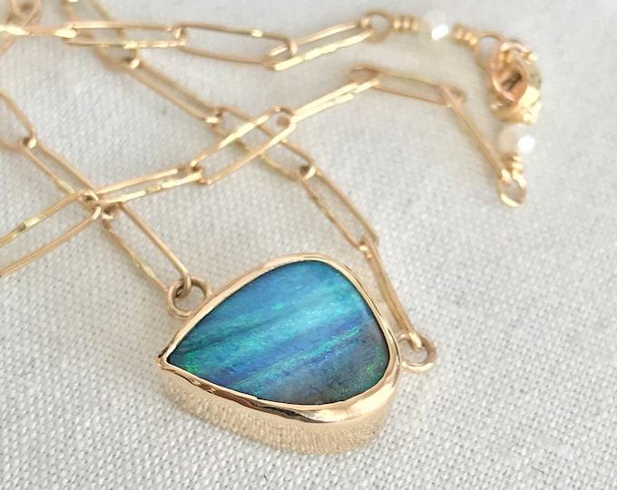 Boulder Opal Necklace, 14k (PIPN3)