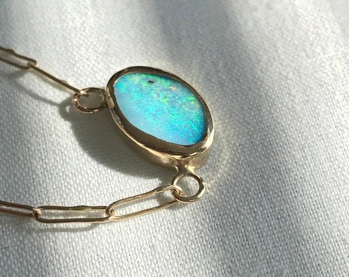 Boulder Opal Necklace, 14k (PIPN2)