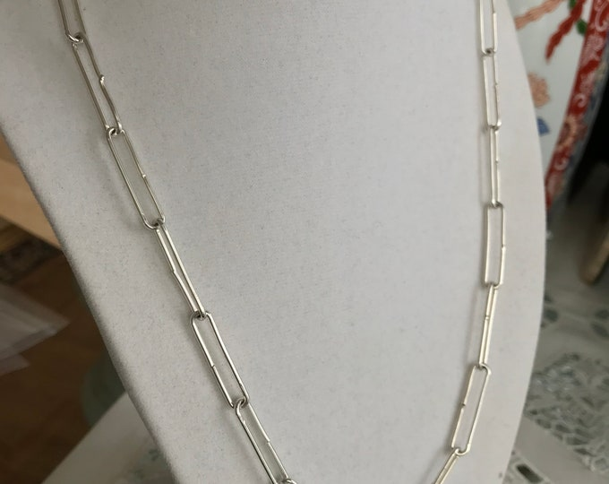 Large Funky Link Chain, Sterling Silver (FLS21)