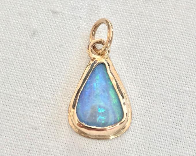 Australian Boulder Opal Pendant, 14k (ABO1)