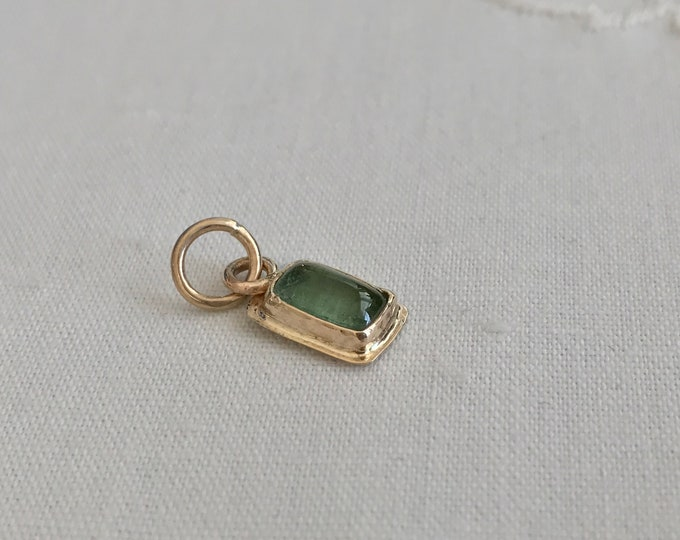 Green Tourmaline Pendant, 14k (TP2)