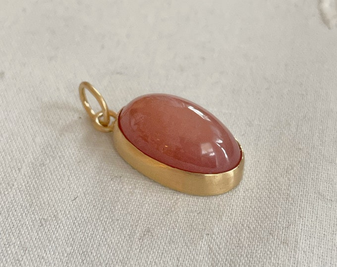 Hydrogrossular Garnet Pendant, 14k Gold (HGP1)