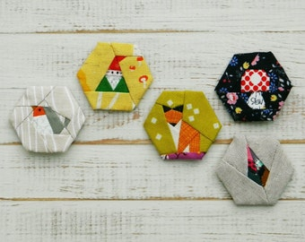 Into the Woods - a paper piecing hexagon pattern
