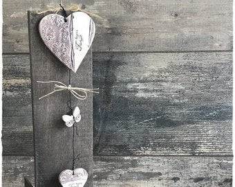 Height 31 cm ceramic stoneware heart Garland
