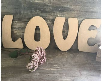 Letter, name or Word blank height 20 cm thickness 6mm