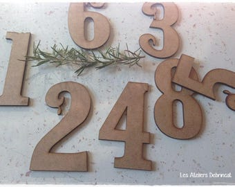 Number of your choice of digit height 10 cm eps 3mm wooden