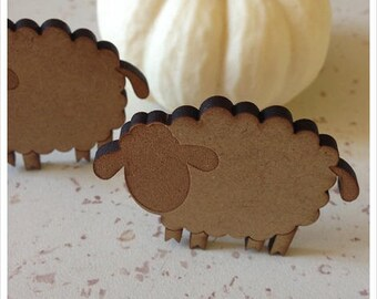 Set of 5 sheep blank height 4.5 cm thickness 3 mm