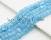 High Quality Aquamarine Heishi Rondelle Faceted Beads,4x7 5x8mm 6x9mm 6x10 6x11mm Natural Aquamarine Beads, 15inches,SKU U322