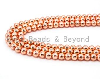 cb1e903e74 Natural Rose Gold Copper Color Hematite Beads