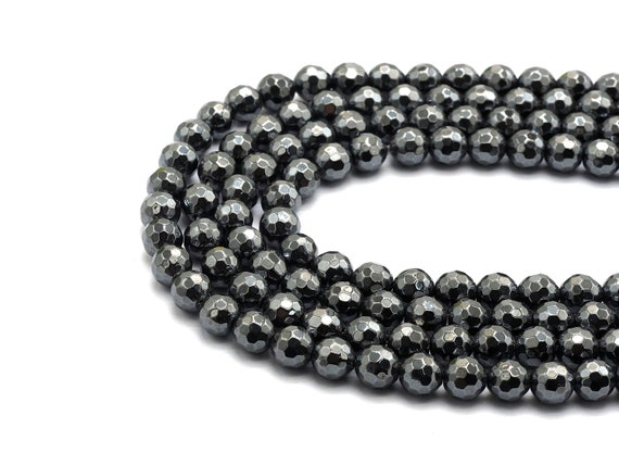 """4x6mm Natural Hematite Oval Beads 15.5/"""""""
