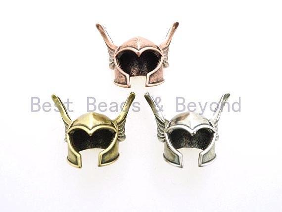Antique Roman Warrior helmet bead, For Paracord Bracelet making, helmet Charms for men's bracelet, DIY Jewelry, 21x25mm, 1pc, sku#Y98