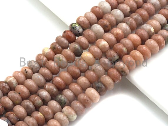 """2mm Large Hole Natural Cherry Agate Beads, Rondelle Smooth 6x10mm/5x8mm, 8"""" Long Strands, sku#U706"""