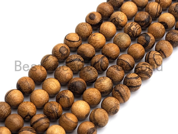 Natural Smooth Round Wood beads, 6mm/8mm/10mm/12mm Natural Brown Wood beads, Natural  Wood Grain Beads, 15.5inch strand,SKU#U464