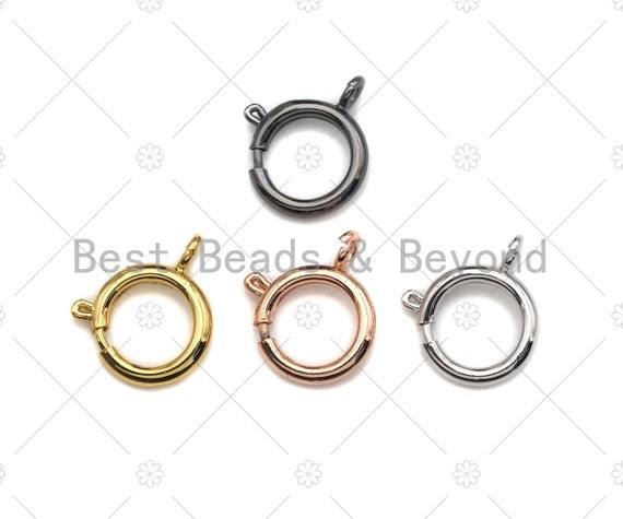 Gold/Rose Gold/Silver/Gunmetal Sailor's Clasp, Spring Connector Clasp, Spring Connector Clasp, Connector Ring, 12mm, sku#H303