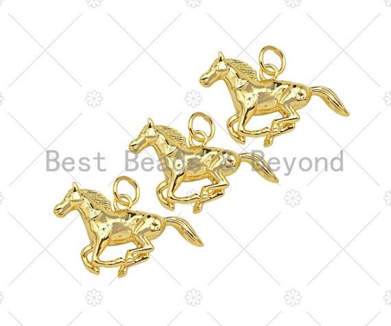 18K Gold Filled Running Horse Shape Pendant,Gold Filled Charm, Necklace Bracelet Charm Pendant,29x16mm,Sku#Z1352