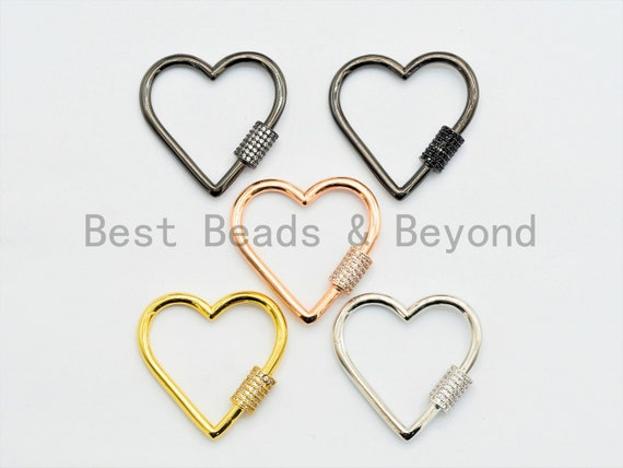 CZ Micro Pave Clasp, Pave Screw Clasp, Pave Diamond Lock, 31mm,sku#H135