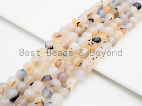 Gorgeous Flower Agate Smooth Round beads, High Quality 6mm/8mm/10mm/12mm Natural Gemstone beads,Agate Beads, 15.5inch strand, SKU#U336