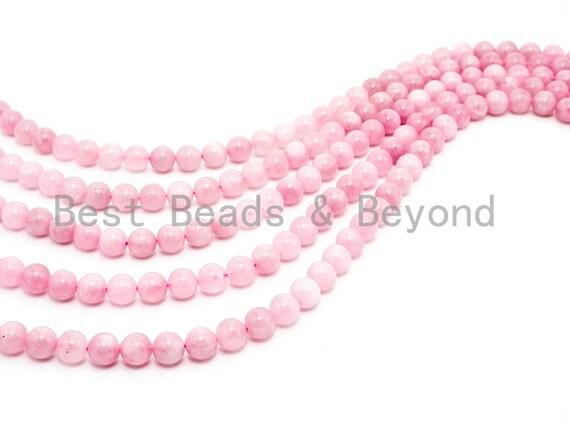 Quality Natural Madagascar Rose Quartz Beads, 6mm/8mm/10mm/12mm Loose Round Smooth Pink Gemstone Beads, 15.5inch Full strand, SKU#U51