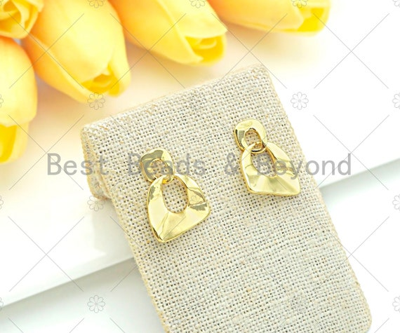 Gold Filled Triangle Geometric earrings, Triangle Earrrings, Triangle shape earrings, sku#J319