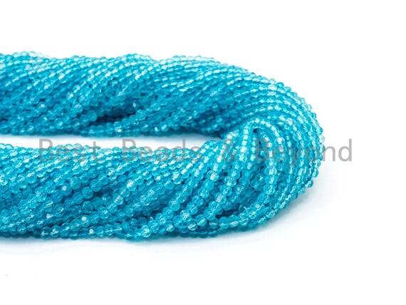"Top Quality Faceted Natural Topaz Rondelle Beads 3x4mm Gemstones Beads, Blue Gemstone, Rondelle Blue Topaz Beads,15.5"" Full Strand,SKU#U103"