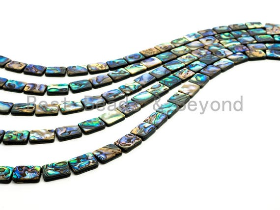 Quality Natural Abalone Flat Rectangle Shell beads Strand,8x10/8x12/10x14/12x16/13x18/15x20mm,Abalone Shell Beads,16inch strand,SKU#R9
