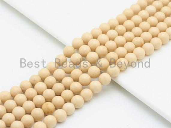High Quality Wood Agate Beads, 6mm/8mm/10mm /12mm Cream Round Smooth Agate Beads,Loose Wood Agate Beads, 15.5inch strand, SKU#U423