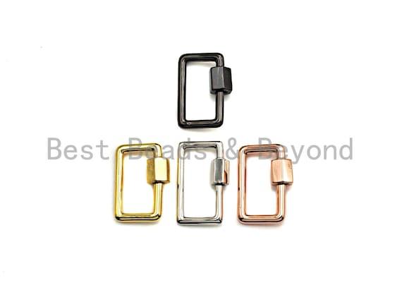 PRESELLING Rectangular Carabiner Clasp, Screw Clasp, Gold/Silver/Rose Gold/Gunmetal Clasp, 15x21mm, sku#H246