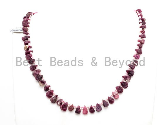 Quality Natural Tourmalite beads, 11-13mm Teardrop Natural Tourmalite Gemstone Beads, 15.5inch strand, SKU#U163