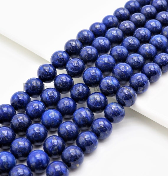 High Quality Natural Lapis Smooth Round Beads, 4mm/5mm/6mm/8mm/10mm/12mm beads, Lapis Gemstone Beads, 15.5inch strand, SKU#U348