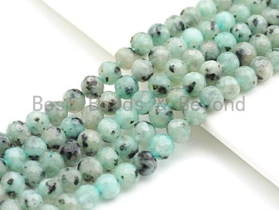 """SPECIAL CUT Natural Blue Agate, 6MM/8MM/10MM/12MM, 15.5"""" Full strand, sku#U645"""