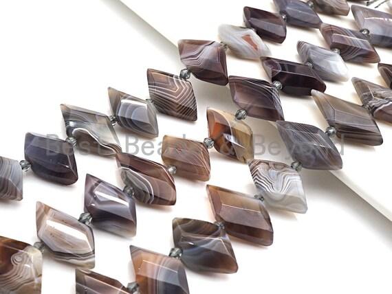 High Quality Natural Botswana Agate Horse Eye Shape Beads, Natural Botswana Agate beads, 16x30mm, sku#U676