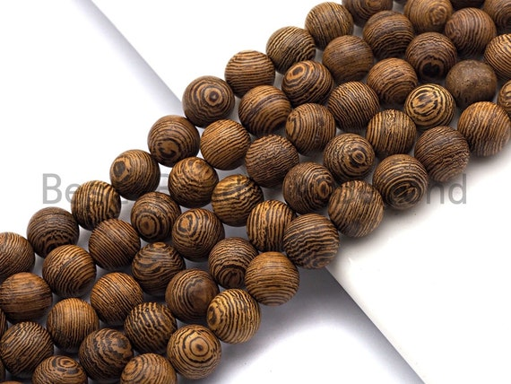 Natural Smooth Round Wood beads, 6mm/8mm/10mm/12mm Natural Brown Wood beads, Natural  Wood Grain Beads, 15.5inch strand,SKU#U467