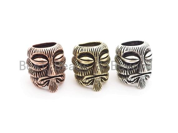 Antique Style Evil Skull Bead, For Paracord EDC Survival Bracelet, Men's Bracelet Beads, Paracord KeyChain Beads,14x16x16mm,1pc,sku#Y125