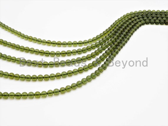 Genuine Czech Moldavite beads 2nd quality