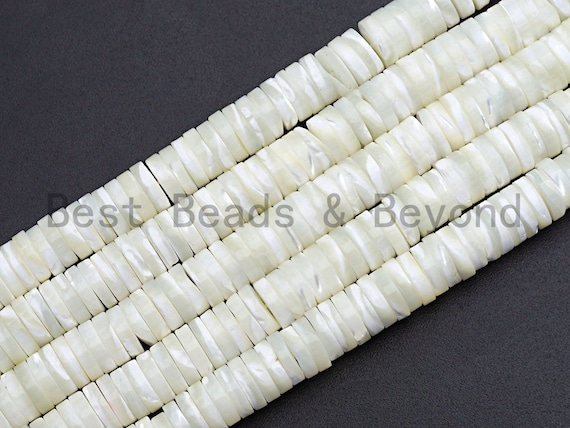 Quality Natural Mother of Pearl Heishi beads, Mother of pearl, Pearl beads, White Heishi Beads, 2.5x4mm/2.5x6mm/2.5x8mm, sku#T117