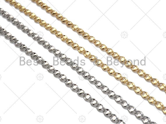 1 Yard 14K Gold filled Anchor Mariner Chain, 4x7mm Flat Mariner Link  Chain, Necklace Bracelet Component Chain, Wholesale Chain,sku#M352