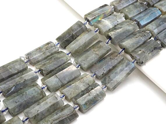 High Quality Natural Labradorite Pillow Shape Beads, Natural Labradorite beads, 13x26mm, sku#U679