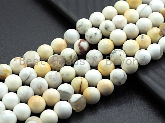 "Natural Smooth Ivory Jade, 6mm/8mm/10mm/12mm, 15.5"" Full Strand, Sku#U650"
