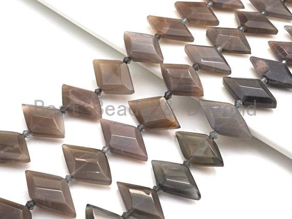 High Quality Natural Black Moonstone Horse Eye Shape Beads, Natural Moonstone Beads, 16x30mm, sku#U675