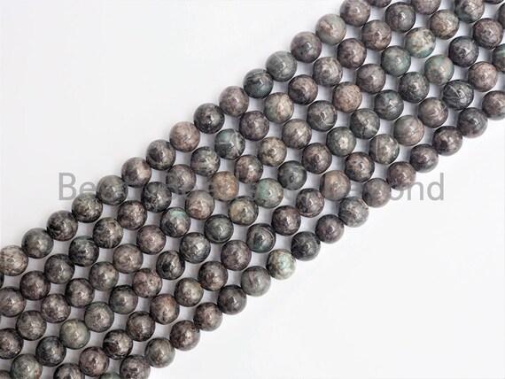 Smooth Round Africa Turquoise beads, 6mm/8mm/10mm/12mm Gray Gemstone beads, Africa Turquoise beads, 15.5inch strand, SKU#U265