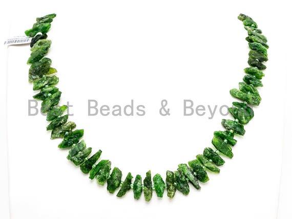 Quality Natural Diopside beads, 16-22mm, Irregular Shape Natural Green Gemstone Beads, 15-16inches strand, SKU#U168