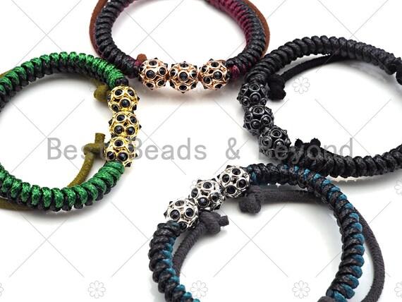 Hand Made Pull Tie bracelet, Men's bracelet, Gift for him, husband boyfriend Gift, Paracord Bracelet, Adjustable Pull and tied style, Y353