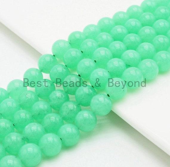 Chrysoprase Jade Round Smooth Beads, 6mm/8mm/10mm beads Finish,Green Gemstone Beads, 15.5inch strand, SKU#U306