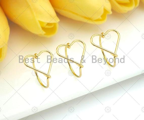 Gold Filled Heart Frame Ring, 18K Gold Filled Ring, Everyday RIng, Heart Ring, 19mm, Sku#X211