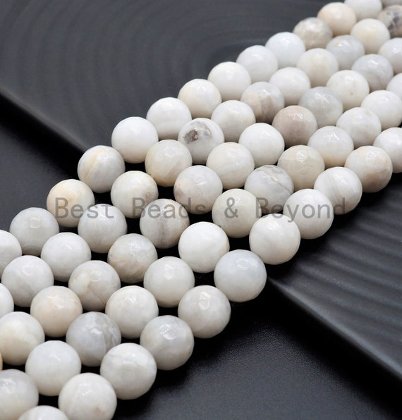 Quality Natural White Crazy Lace Agate beads, 8mm/10mm/12mm Faceted Round Gemstone beads, White Lace Agate Beads, 15.5inch strand, SKU#U379