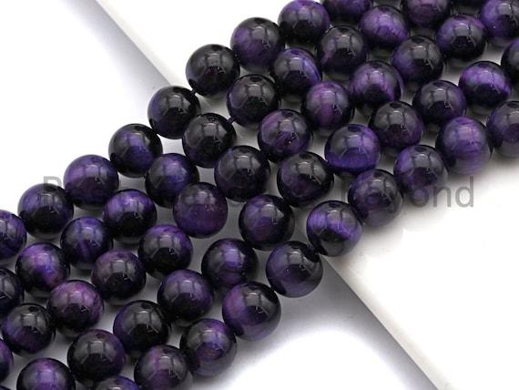 Quality Natural Purple Tiger Eye Round Beads, 6mm/8mm/10mm/12mm, Purple Tiger Eye Gemstone Beads, 15.5inch strand, SKU#U66