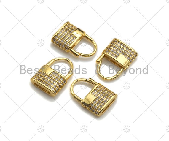 Dainty Gold Padlock Charms, Dainty Lock Charms, Padlock Pendant, Gold Charm, Gold Pendant, Padlock Necklace Charms, 11x16mm, Sku#LK121